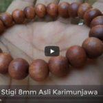 Gelang Kayu Stigi Karimunjawa 21 Beads 8mm