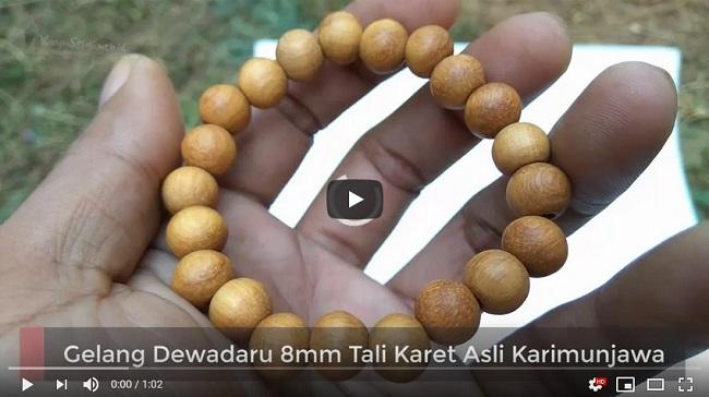 Gelang Dewadaru 8mm Tali Karet Asli Karimunjawa