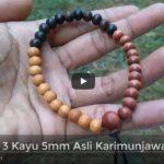 Gelang Kayu Stigi Asli Kombinasi Dewandaru dan Kalimasada