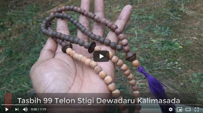 Tasbih 99 Telon Stigi Dewadaru Kalimasada Asli Karimunjawa